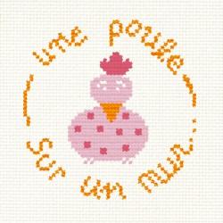 """Mini Kit """"une poule sur un mur"""""""