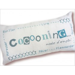 "Coussin rectangle ""Cocooning"""