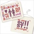Panneau de porte Chambre des Parents