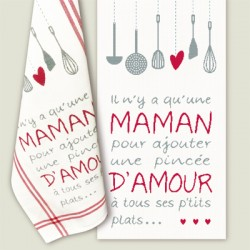 """Maman d'amour"" Tea Towel"